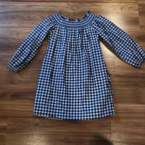 off the shoulder plaid dress size XS